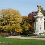 Musiker-Denkmal im Großen Tiergarten in Berlin-Tiergarten von Rudolf Siemering aus dem Jahr 1904, Zustand: Oktober 2015.