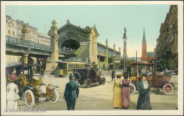 Historische Postkartenansicht vom U-Bahnhof Bülowstraße in Berlin-Schöneberg