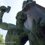 Bismarck-Nationaldenkmal am Großen Stern in Berlin-Tiergarten von Reinhold Begas, Detailansicht mit Siegfried