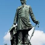 Bismarck-Nationaldenkmal am Großen Stern in Berlin-Tiergarten von Reinhold Begas, Detailansicht von Bismarck
