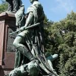 Bismarck-Nationaldenkmal am Großen Stern in Berlin-Tiergarten von Reinhold Begas, Detailansicht