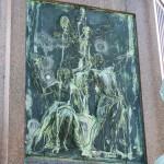 Bismarck-Nationaldenkmal am Großen Stern in Berlin-Tiergarten von Reinhold Begas, Detailansicht vom Sockel