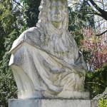 Denkmal Rüdiger von Ilgen in Berlin-Neukölln von Rudolf Siemering, Detailansicht mit der Büste