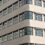 Ehemaliges Shell-Haus in Berlin von Emil Fahrenkamp von 1930 - 1932 im Stil der Neuen Sachlichkeit, Detailansicht