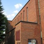 Katholische Kirche St. Bernhard in Berlin-Dahlem von Wilhelm Fahlbusch von 1932 - 1934, Detailansicht