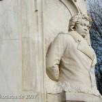 Musiker-Denkmal im Großen Tiergarten in Berlin-Tiergarten von Rudolf Siemering aus dem Jahr 1904, Detailansicht Beethoven