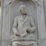 Musiker-Denkmal im Großen Tiergarten in Berlin-Tiergarten von Rudolf Siemering aus dem Jahr 1904, Detailansicht Haydn
