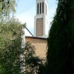Gustav-Adolf-Kirche in Berlin-Charlottenburg von Otto Bartning, erbaut 1932 - 1934, Detailansicht
