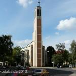 Gustav-Adolf-Kirche in Berlin-Charlottenburg von Otto Bartning, erbaut 1932 - 1934, Gesamtansicht