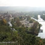 Blick auf die Stadt Hann.-Münden und den Zusammenfluss von Fulda und Werra