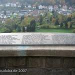 Weserliedanlage in Hann.-Münden, Detailansicht mit der Tafel mit dem Weserlied