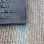 Weserliedanlage in Hann.-Münden, Detailansicht der Tafel mit dem Weserlied