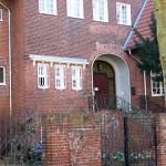 Haus Auhagen in Berlin-Dahlem von Heinrich Lassen, Detailansicht der Nordseite mit Eingangsbereich