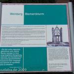 Bismarckturm in Rathenow, Informationstafel