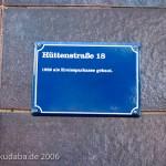 Haus Hüttenstraße 18 in Sangerhausen im Stil des Expressionismus von 1932, Informationstafel