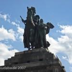 Das Reiterstandbild des Kaiser Wilhelm I. auf dem Deutschen Eck in Koblenz, Ansicht der Skulptur