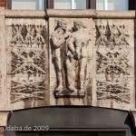 Ullsteinhaus in Berlin-Tempelhof nach Plänen von Eugen Schmohl, 1927 im expressionistischen Stil fertiggestellt, Ansicht des Eingangs am Mariendorferdamm, Detail