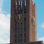 Ullsteinhaus in Berlin-Tempelhof nach Plänen von Eugen Schmohl, 1927 im expressionistischen Stil fertiggestellt, Ansicht des Turms