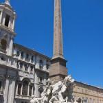 Vierströmebrunnen auf der Piazza Navona in Rom, Gesamtansicht