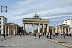 Das Brandenburger Tor in Berlin wurde 1789 - 1791 von Carl Gotthard Langhans erbaut